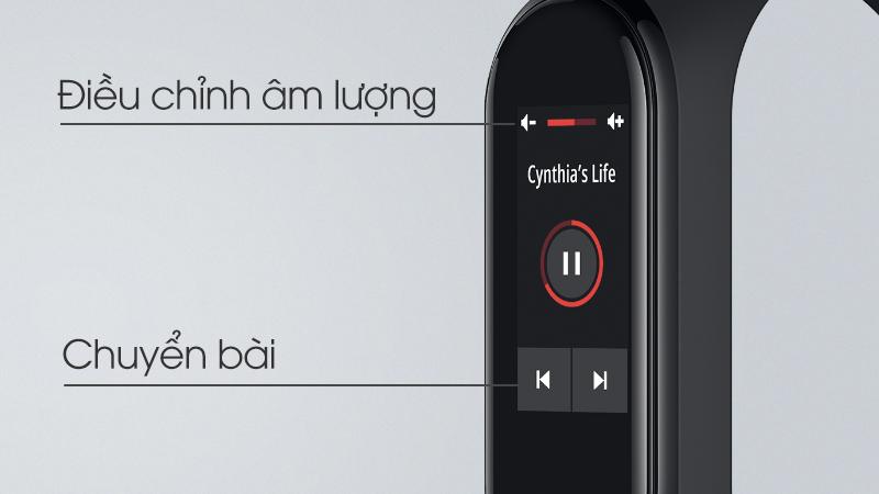 Mi Band 4 có thể điều khiển nhạc